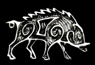 Celtic Pictish                   Boar Brooch