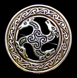 Viking Celtic Horse Broach