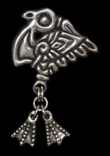 Museum Replica Viking Pendants in Silver & Bronze - silver